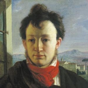 Автопортрет с палитрой и кистями в руке. (1805—1806)