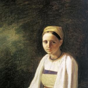 Крестьянка с васильками