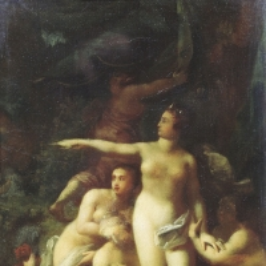 Диана, окруженная нимфами, и Актеон