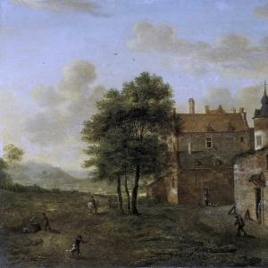 Ян ван дер Хейден - Деревенский дом, 1660-1712