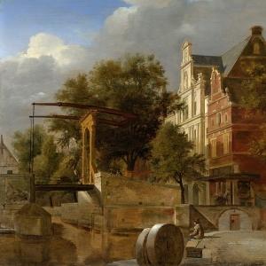 Ян ван дер Хейден - Подъёмный мост, 1660-72