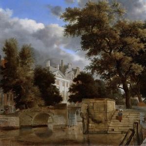 Ян ван дер Хейден - Каменный мост, 1660-72