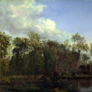Ян ван дер Хейден - Ферма среди деревьев