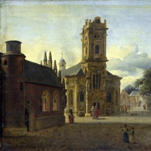 Ян ван дер Хейден - Площадь у церкви