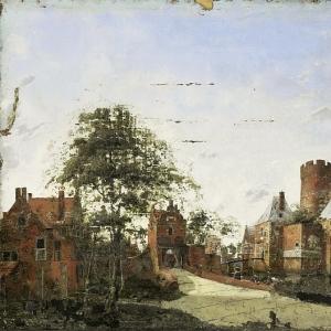 Ян ван дер Хейден - Защитный ров замка в Ангстеле, 1650-1750