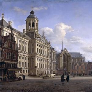 Ян ван дер Хейден - Собор и новая городская ратуша в Амстердаме
