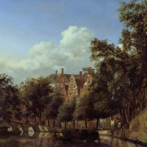Ян ван дер Хейден - Военный канал в Амстердаме, вид от Ландышевого канала