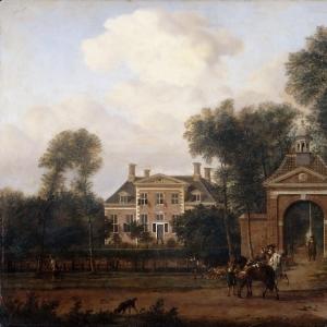 Ян ван дер Хейден - Дом Хартевельда в Марссене у реки Вехт (Утрехтская провинция)