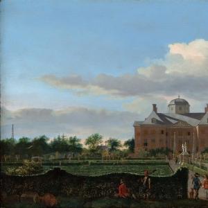 Ян ван дер Хейден - Хью тен Бош в Гааге и Формальном саду (вид с юга)