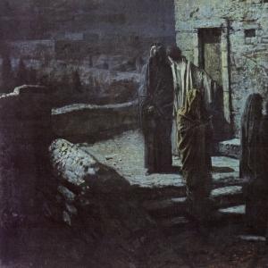 Выход Христа с учениками с Тайной вечери в Гефсиманский