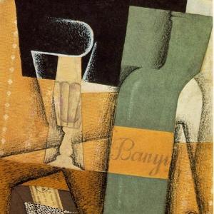 Хуан Грис - Бутылка, 1914