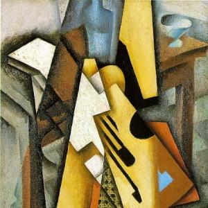 Хуан Грис - Гитара на стуле, 1913