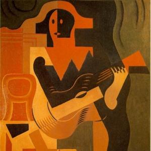 Хуан Грис - Арлекин с гитарой, 1919