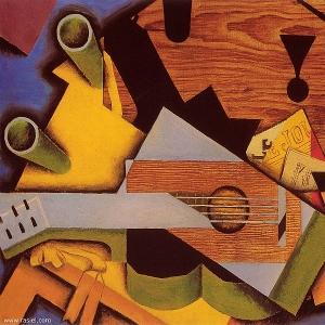 Хуан Грис - Натюрморт с гитарой