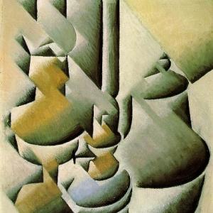 Хуан Грис - Натюрморт с масляной лампой, 1911-12