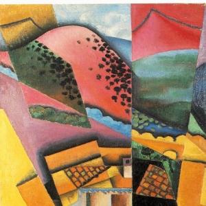Хуан Грис - Пейзаж с рекой Серет, 1913