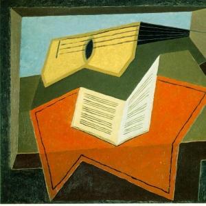 Хуан Грис - Гитара и нотная бумага, 1926-27