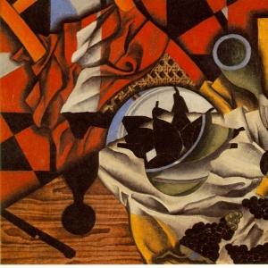 Хуан Грис - Груши и виноград на столе, 1913