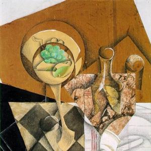Хуан Грис - Блюдо с фруктами и графин
