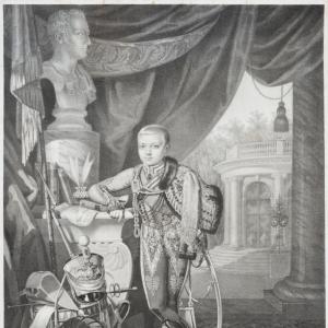 Гампельн Карл Карлович - Портрет цесаревича Александра Николаевича в детстве