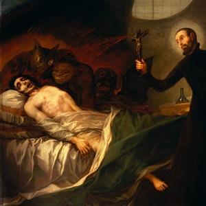 Св.Франциск Борджа помогает умирающему