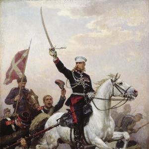 Генерал Н.Д.Скобелев на коне