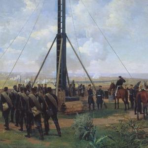 Артиллерийский бой под Плевной. Батарея осадных орудий на Великокняжеской горе
