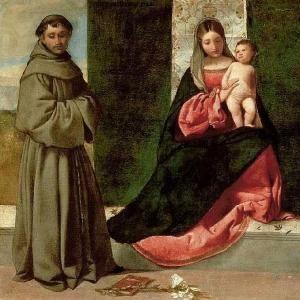 Мадонна с младенцем, св. Антонием падуанским и св. Рохом