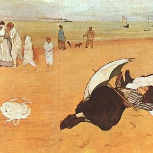 Эдгар Дега - На пляже