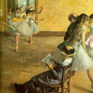 Эдгар Дега - Балетный класс