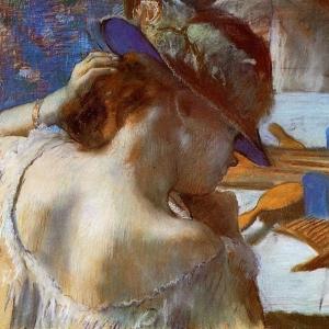 Эдгар Дега - У зеркала