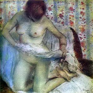 Эдгар Дега - Вытирающаяся женщина