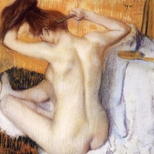 Эдгар Дега - Женщина, расчесывающая волосы