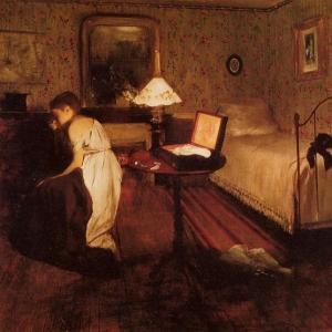 Эдгар Дега - Интерьер (другое название картины - «Похищение»)