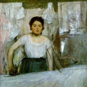 Эдгар Дега - Женщина за глаженьем белья