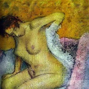 Эдгар Дега - Женщина, вытирающаяся после ванны