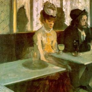 Эдгар Дега - В кафе. Любители абсента.
