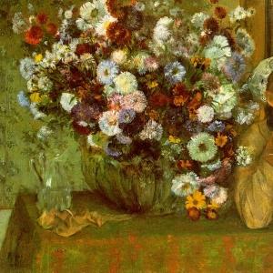 Эдгар Дега - Мадам Вальпенсон с хризантемами