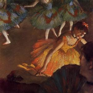 Эдгар Дега - Балерина и дама с веером