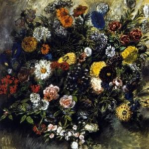 Эжен Делакруа - Букет цветов
