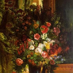 Эжен Делакруа - Ваза с цветами 1848-1850