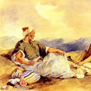 Эжен Делакруа - Двое марокканцев в деревне