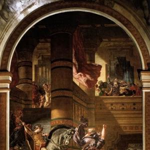 Эжен Делакруа - Гелиодор, изгоняемый из храма