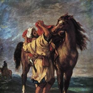 Эжен Делакруа - Марокканец и его лошадь