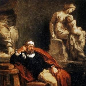 Эжен Делакруа - Микеланджело в своей мастерской