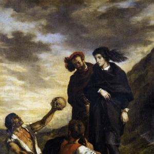 Эжен Делакруа - Гамлет и Горацио на кладбище