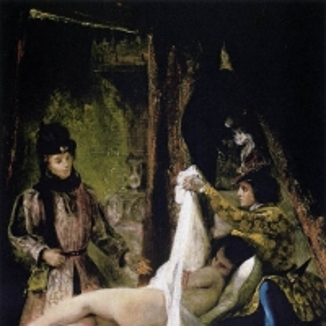 Эжен Делакруа - Луи Орлеанский, показывающий свою любовницу