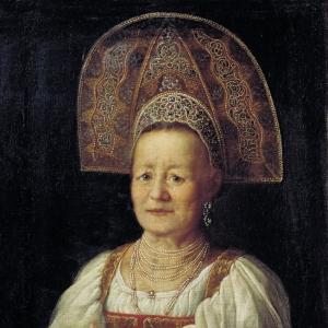 Портрет купчихи в кокошнике