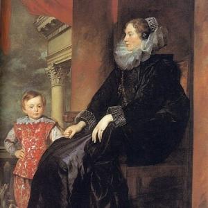 Антон ван Дейк - Генуэзская аристократка с сыном