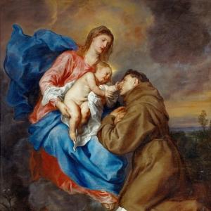 Антон ван Дейк - Видение Святого Антония Падуанского